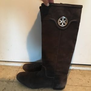 Brown Suede Tory Burch Boots Size 7.5